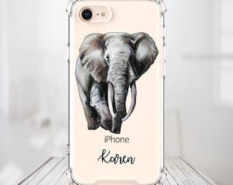 Personalized Elephant Case, iPhone SE, 6, 6 plus, 7, 7 plus, 8, 8 Plus, X,  Xs MAX, XR, Galaxy S8, S8 Plus, S9, s9 plus, Note 8, Note 9