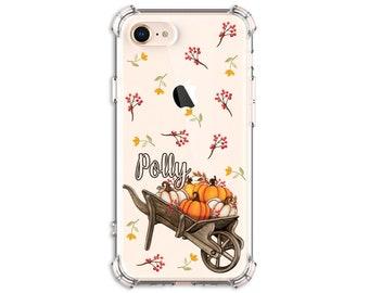 Pumpkin wheelbarrow, Autumn Phone Case, iPhone 8, 8 Plus, X, Xs MAX, XR, iphone 11, Galaxy S10, S8 Plus, s9 plus, Note 8, Note 9, Note 10