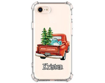 Red Truck iPhone Case, Christmas Truck, iPhone 11, 7, 7 plus, 8, 8 Plus, X, Xs MAX, XR,  Galaxy S8, S8 Plus, S9, s9 plus, Note 8, Note 9