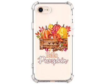 Hello Pumpkin Basket Phone Case, Personalized Case, iPhone 8, 8 Plus, Xs MAX, XR, 11, 12, Galaxy S10, S8 Plus, S9, Note 8, Note 9