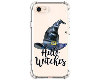 Hello Witches Halloween Phone Case, iPhone 8, 8 Plus, X, Xs MAX, XR, iphone 11, Galaxy S10, S8 Plus, S9, s9 plus, Note 8, Note 9, Note 10