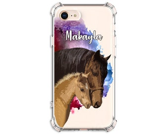 Horse lover Personalized case, iPhone 6, 6 plus, 7, 7 plus, 8, 8 Plus, X, 11, Xs MAX, XR, Galaxy S10, S8 Plus, S9, s9 plus, Note 8, Note 9