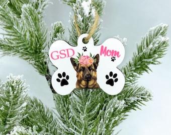 Custom GSD dog ornament, 2020 GSD Mom Christmas Ornament, German Shepherd Dog Gift, GSD Ornament, Dog Ornament, Personalized Dog Ornament