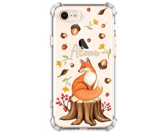 Fox Phone Case, Fall Woodland Fox Phone Case, iPhone 8, 8 Plus, Xs MAX, XR, 11, iPhone 12, Galaxy S10, S8 Plus, S9, s9 plus, Note 8, Note 9