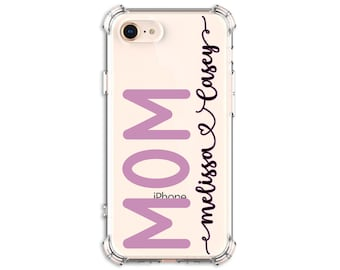 MOM phone case with kids names, Mom gift, iPhone 7, 7 plus, 8, 8 Plus, X, Xs MAX, XR, 11, Galaxy S8, S8 Plus, S9, s9 plus, Note 8, Note 9