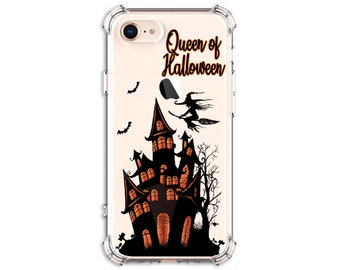 Halloween Haunted House, Witch Broom, iPhone 11, 11 Pro, 7, 7 plus, 8, 8 Plus, X, Xs, Xs MAX, XR, Samsung Galaxy S9, s9 plus, Note 8, Note 9
