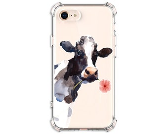 Watercolor Cute Cow phone Case, iPhone 12, 12 pro max, 8, 8 Plus, X, Xs MAX, XR, iPhone 11, Galaxy S10, S10 Plus, S9, S20fe, Note 8, note 20