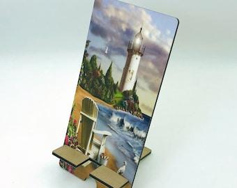 Lighthouse Design Phone Holder, Tablet Holder, Custom Phone stand, Gift for teacher, Birthday Gift, Charging stand