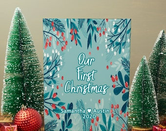 Our first christmas Canvas gift, New home, Our first christmas, first christmas married, first home, first anniversary, christmas for her