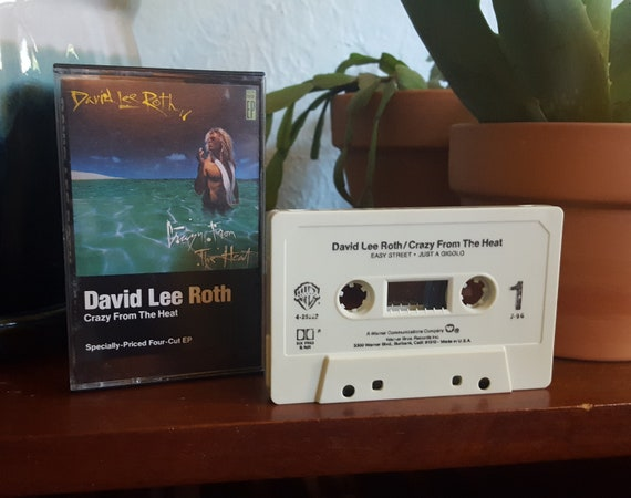 David Lee Roth Cassette Crazy From The Heat Original Etsy