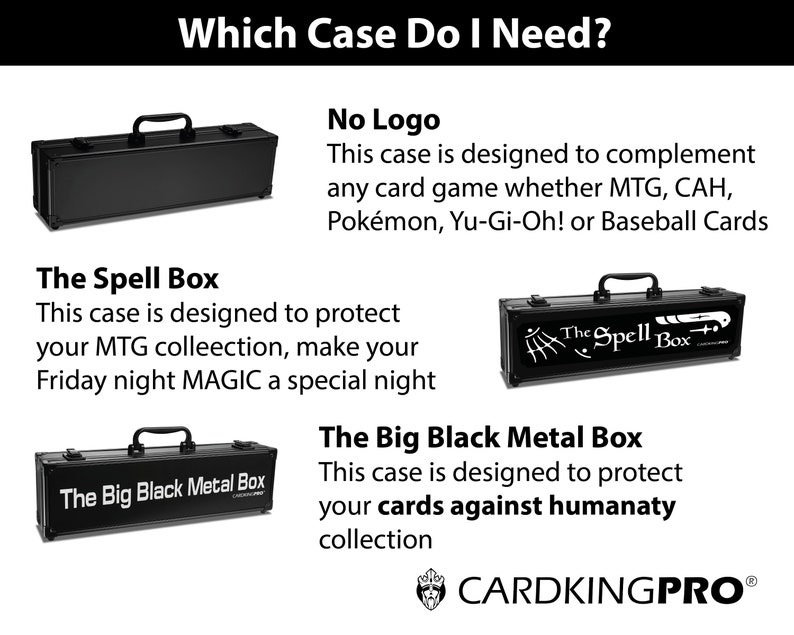 cards against humanity case the big black metal box etsy