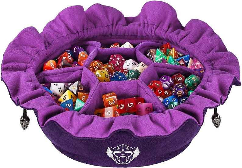 Dice Bag with Pockets  Purple  Capacity 150 Dice  Great image 0