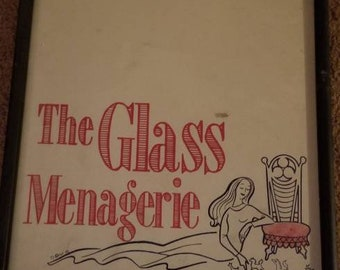 The Glass Menagerie Playbill, Tennessee Willams ,vintage