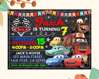 Invitation card etsy cars birthday invitation cars birthday cars invitation cars birthday party cars birthday card cars invitation card cars party invite stopboris Gallery