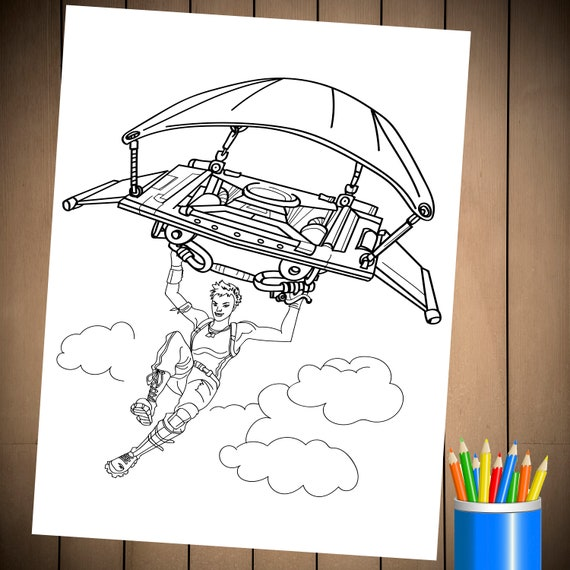 Fortnite Battle Royale Coloring Page For Birthday Party Etsy