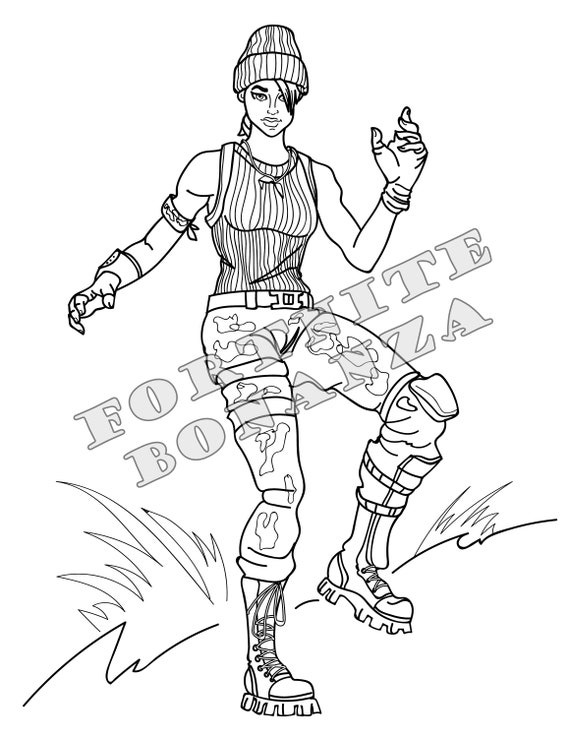 Fortnite Battle Royale Coloring Pages Set Of 4 For Birthday Etsy