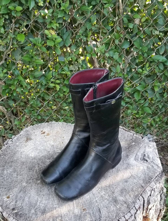 Sz 8 Vintage Ankle Boots/Genuine Leather Zipper Bo