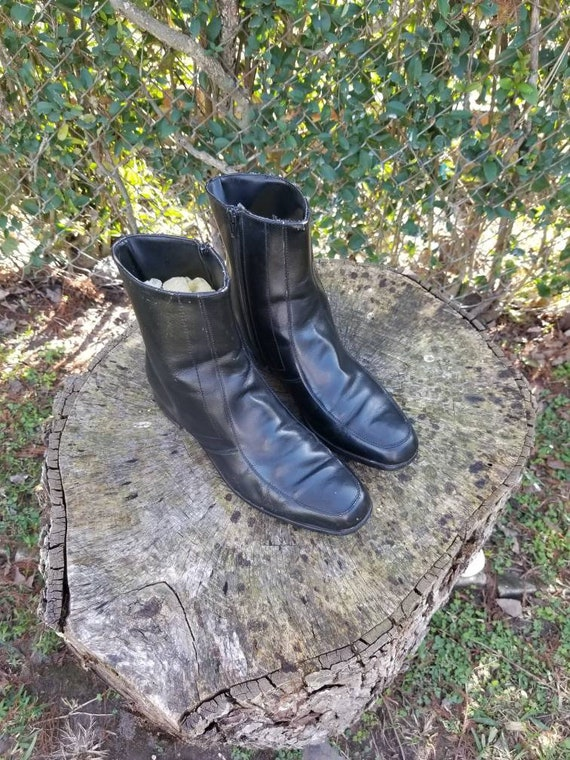 Vintage Black Beatle Boots/Mod Boot From The 70s