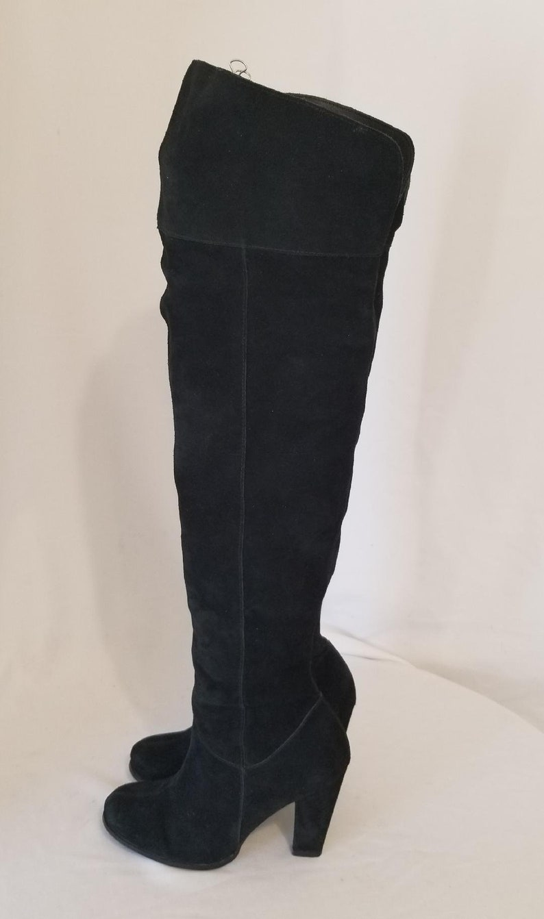 a815ae55843 S.z. 7 Restricted Brand Vintage Thigh High  Black Suede