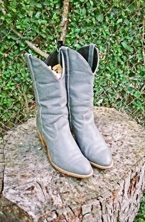 Vintage 1970's Leather Capezio L702 Grey 10 M West
