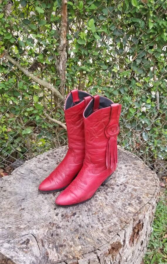 Laredo Shoes   Laredo Vintage Fringed Cowboy Boots