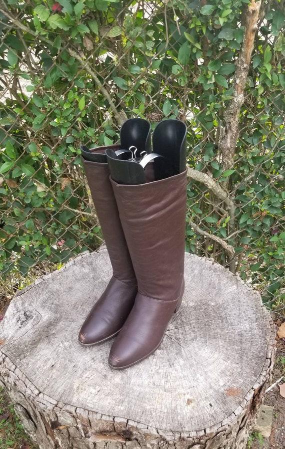 Sz 6.5 Vintage Riding Boots/ Genuine Leather Boots