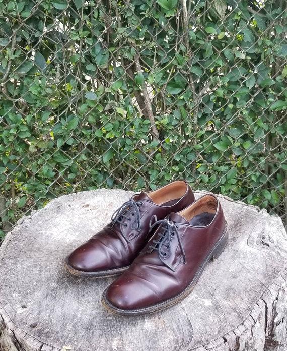 Sz 9.5 Vintage Oxford Shoes/Genuine Leather Dress