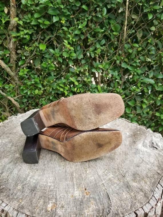 Sz 9.5 Vintage Mules/ Genuine Leather Slide Mules… - image 10
