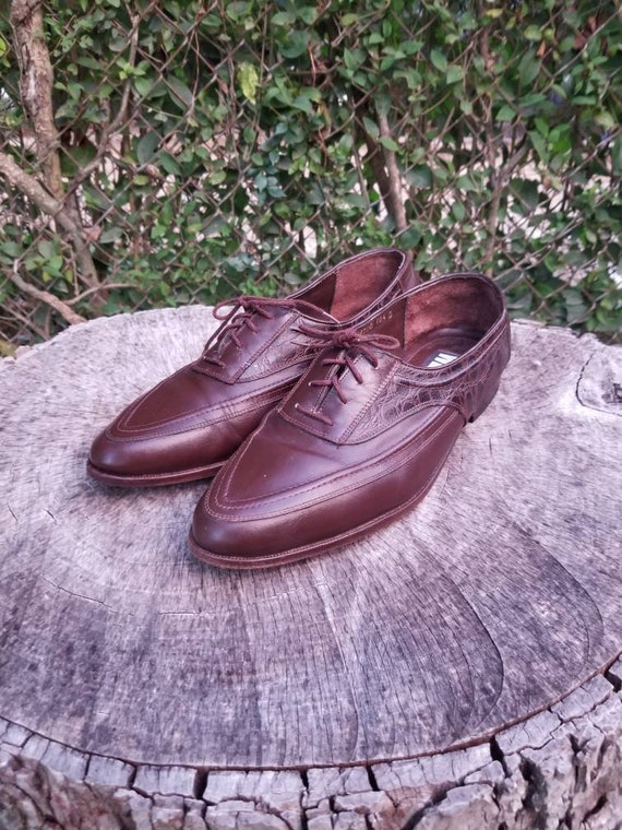 Sz 10.5 Vintage Oxfords/Men's Lace Up Dress Shoes/