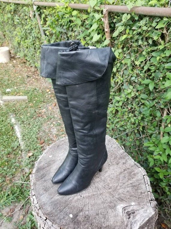 Sz. 8 Tall Knee High Boots/Vintage Mid-Thigh Boots