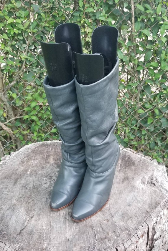Sz 7 Vintage Slouchy Boots/Genuine Leather Pull Up