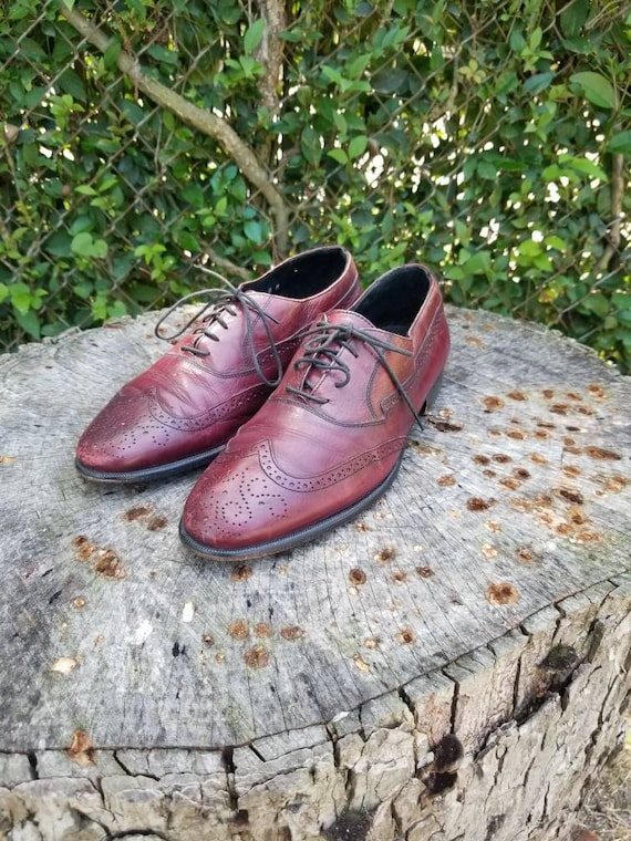 Sz 8 Vintage Johnston and Murphy Leather Oxford Wi