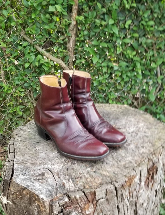 Vintage Mens Genuine Roebuck Cowboy Ankle Boots 10