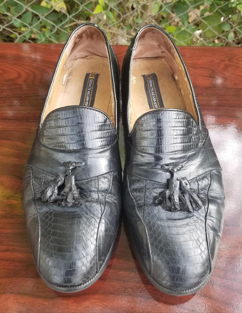 Men's Shoes Stacy Adams Mens Genuine Snake Skin Slip On Loafers Size 12 M