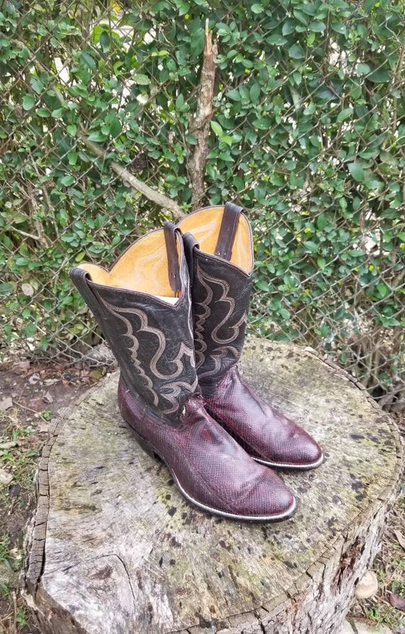 Exotic Cowboy Boots/ Purple Western Style Boots Sz