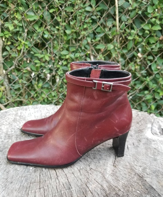 Sz. 6 Vintage Ankle Boots/Zipper Ankle Boots With… - image 2
