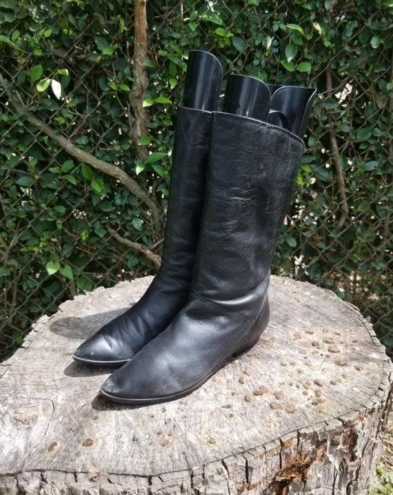 Sz 8 Vintage Slouchy Fold Down Boots/Genuine Leath