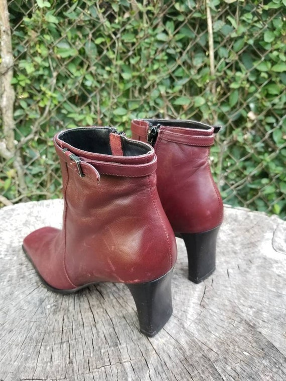 Sz. 6 Vintage Ankle Boots/Zipper Ankle Boots With… - image 5