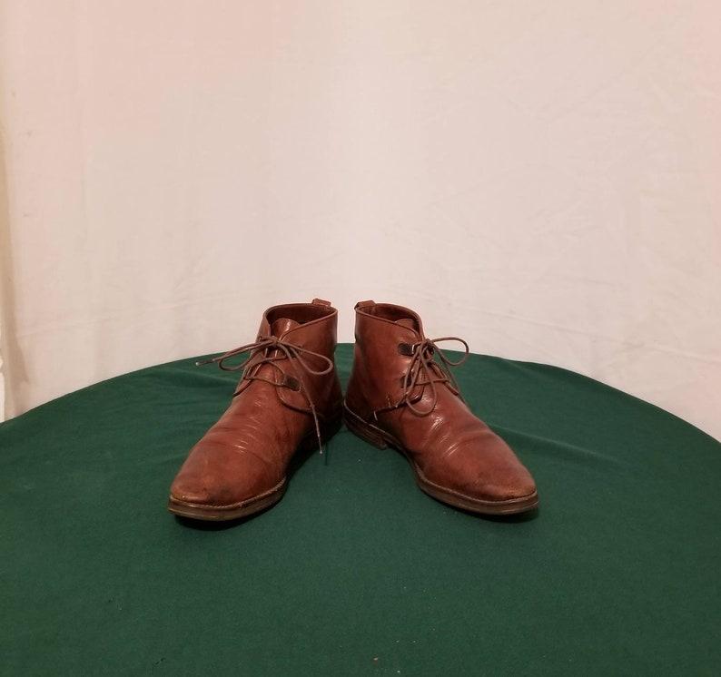 fde899875eb30 Sz. 8 Leather Ankle Boots// Lace Ups//Vintage 80s// Vintage Granny  Boots//Booties// Pixie
