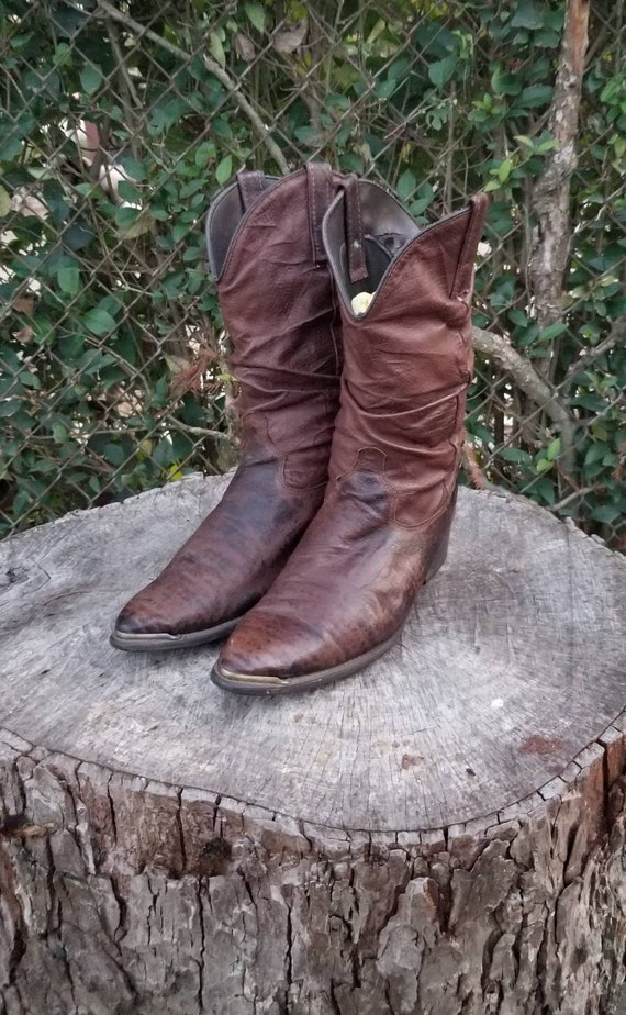 Sz 8.5 Cowboy Boots By Dingo/Brown Western Style S