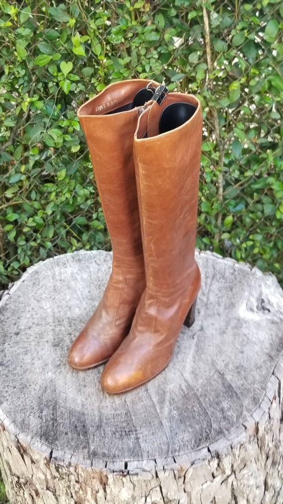 Sz 7.5 Vintage Riding Boots/Genuine Leather With S