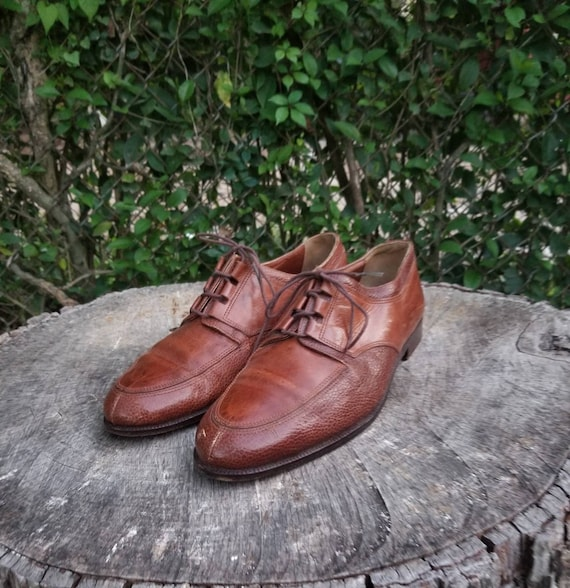 Sz 8 Vintage Men's Dress Shoes/Genuine Leather Ita
