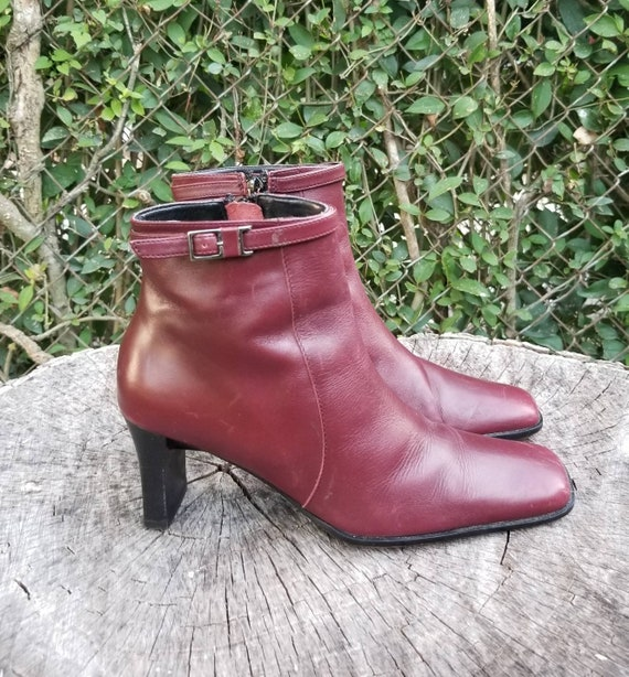 Sz. 6 Vintage Ankle Boots/Zipper Ankle Boots With… - image 3