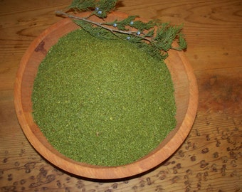 2 oz Eastern Red Cedar needle (Juniperus virginiana) Powder, Organic hand harvested in East Texas