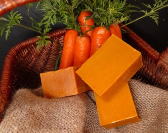 Handmade Carrot Ginger Organic Vegan Soap