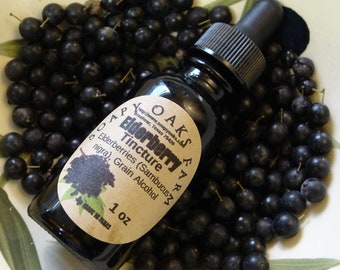 Elderberry (Sambucus nigra) Tincture for colds