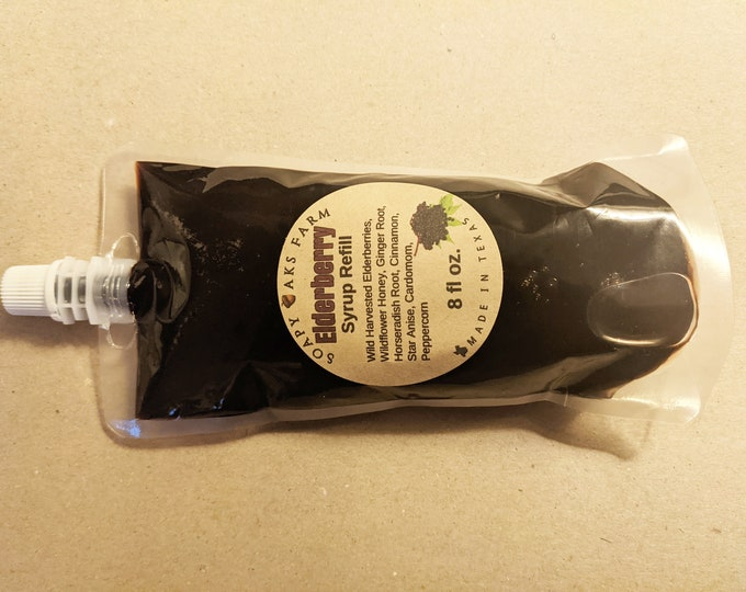 Featured listing image: 8 oz. Elderberry Syrup Refill