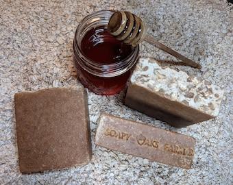 JUMBO Manuka Honey & Oats Goat Milk Soap