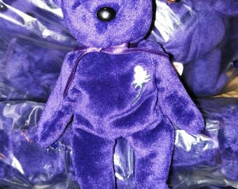 1ae4be725c4 New Princess Diana purple bear stuffed animal Beanie babies