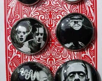Frankenstein Glass Earrings Sets